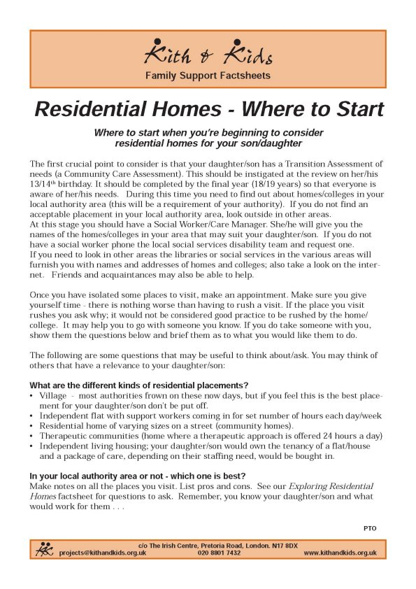 residential homes where to start
