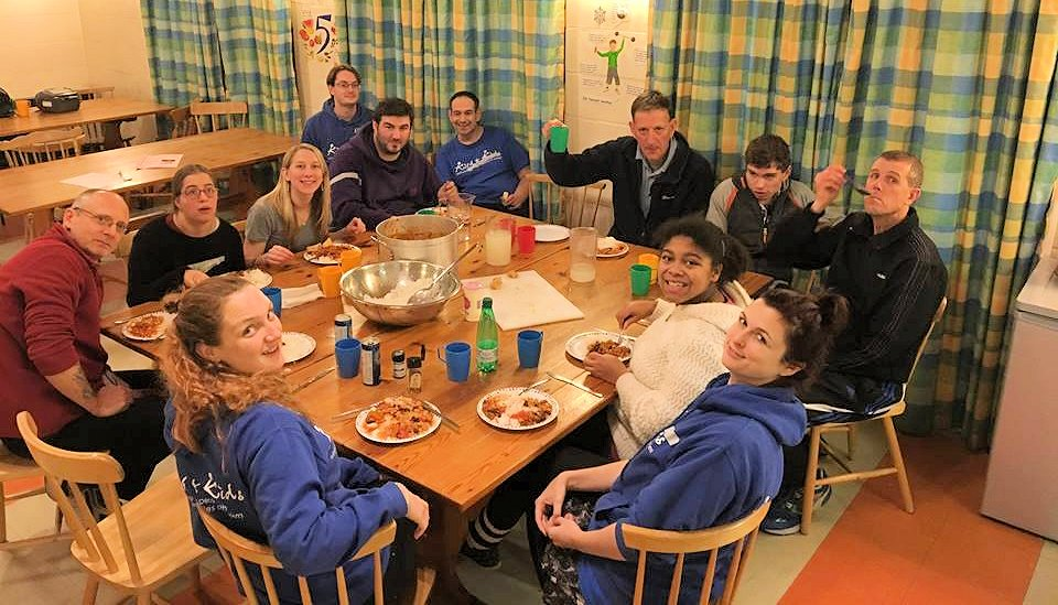 dinner on respite weekend