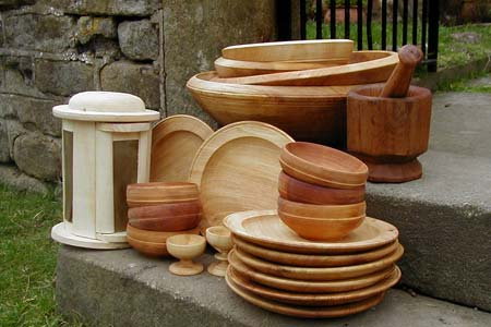 Weald u0026 Downland Museum kitchen equipment & Robin Wood :: wooden bowls u0026 plates :: traditional turning :: spoon ...
